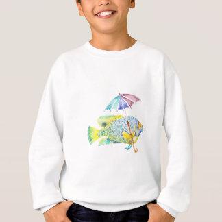 Angel Fish With Umbrella Sweatshirt