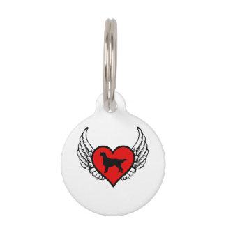Angel Flat-Coated Retriever dog winged Heart Pet Tags