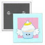 Angel Food Cupcake Pinback Button
