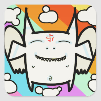 Angel for good luck square sticker