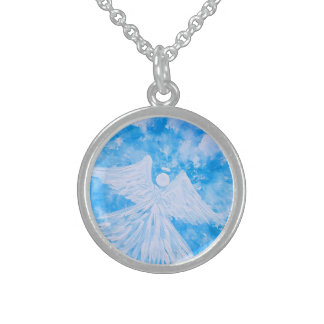Angel from the sky sterling silver necklace