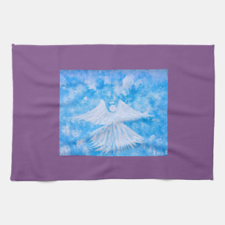 Angel from the sky tea towel