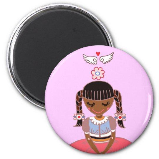 Angel Girl (Afro) Magnet