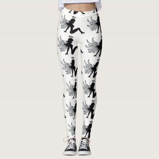 Angel Girl Silhouette Leggings