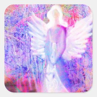 Angel Glow Stickers Square Sticker