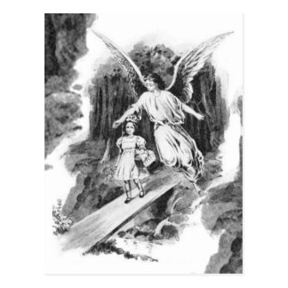 Angel Guarding A Girl Child Postcard
