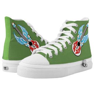 Angel Guitar Green High-top sneakers