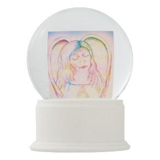 Angel healing get well snow globe
