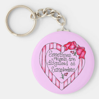 Angel Heart Scrapbooker Tshirts and Gifts Key Ring