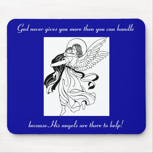 Angel Help Mouse Pad
