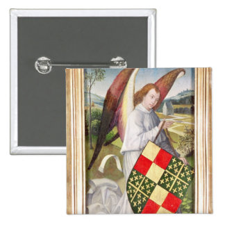 Angel holding a shield button