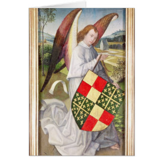 Angel holding a shield cards