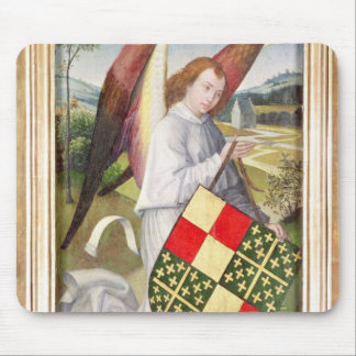 Angel holding a shield mousepads