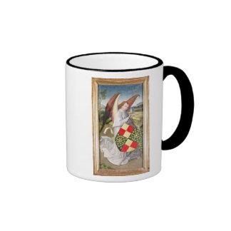 Angel holding a shield coffee mugs