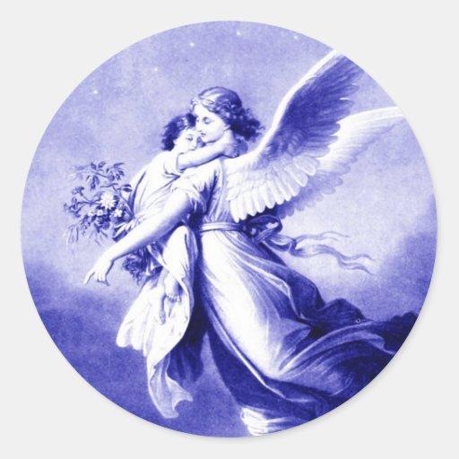 Angel Holding Child Sticker