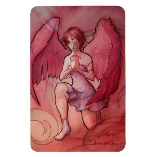 Angel Holding Cup Rectangular Photo Magnet