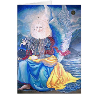 angel holiday card