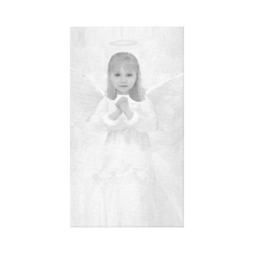 Angel in Black and White Stretched Canvas Prints