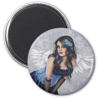 Angel in blue Magnet