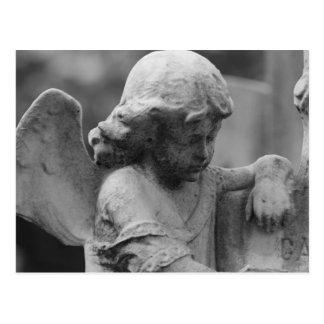 Angel in Cemetery Postcard