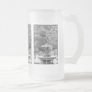 Angel in Central Park,NYC. Frosted Glass Beer Mug