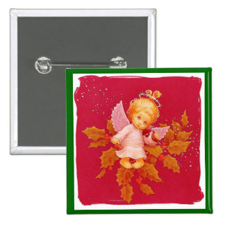 Angel In Christmas 15 Cm Square Badge