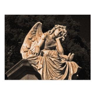 angel in contemplation postcard