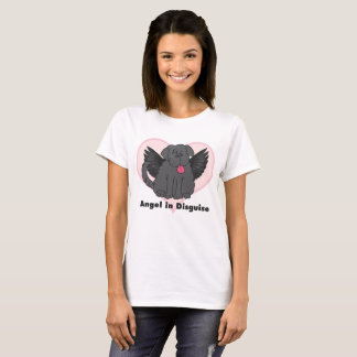 Angel in Disguise Newfoundland Dog T-Shirt
