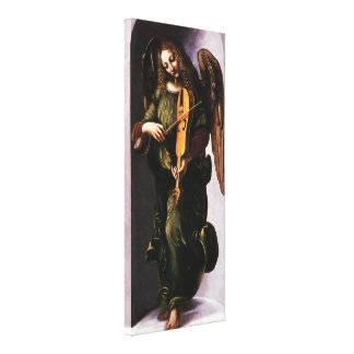 Angel in Green with a Vielle by Leonardo da Vinci Gallery Wrap Canvas