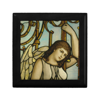 Angel In Stained Glass Small Square Gift Box