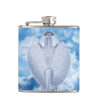 Angel in the clouds hip flask