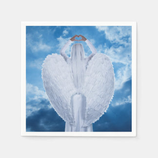 Angel in the clouds paper napkin