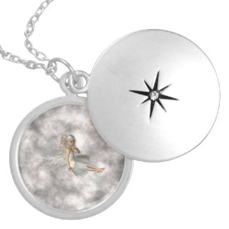 Angel in the Clouds Silver Plated Necklace