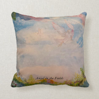 Angel in the field cushion
