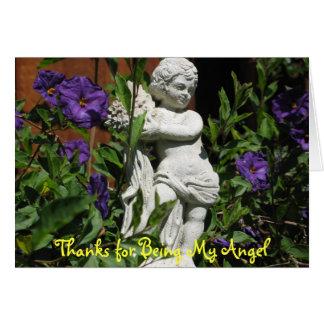 Angel in the garden card