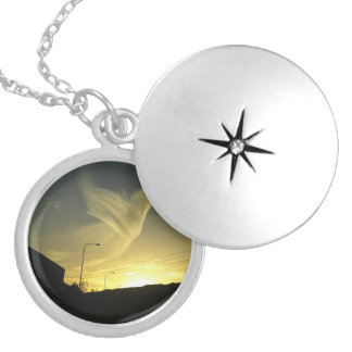 Angel In The Sky Silver Plated Necklace