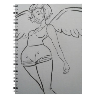 Angel Inked and Cute Girl Notebook