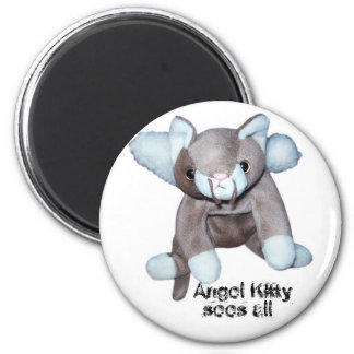 Angel Kitty sees all Magnet