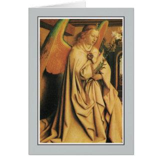 Angel, Lam Gods (Ghent Altarpiece) Jan Van Eyck Card