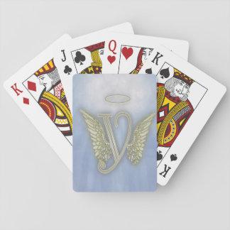 Angel Monogram Poker Deck