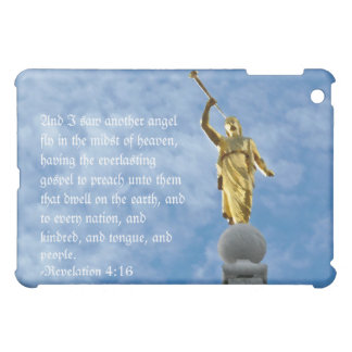 Angel Moroni on Salt Lake Temple Print iPad Mini Cases