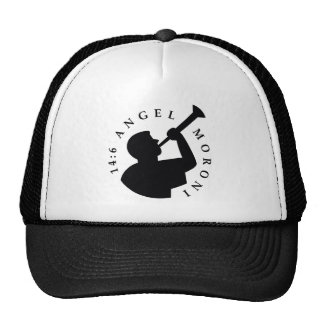 Angel Moroni Trucker Hat Black
