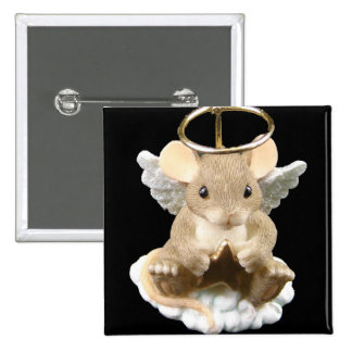 Angel Mouse Pinback Button