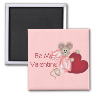 Angel Mouse Be My Valentine Magnet