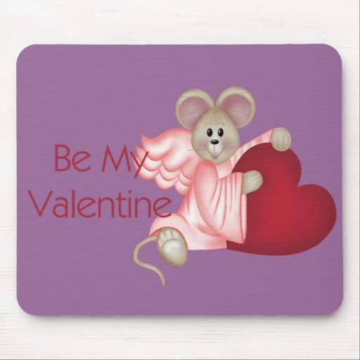 Angel Mouse Be My Valentine Mousepad