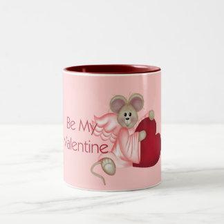 Angel Mouse Be My Valentine Mug