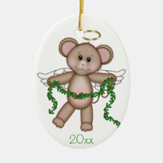 Angel Mouse Ceramic Oval Decoration
