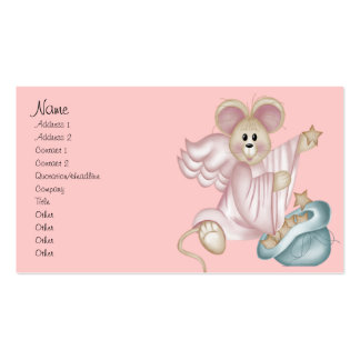 Angel Mouse with a Bag of Stars Business Card