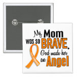 Angel Mum Leukaemia Pin