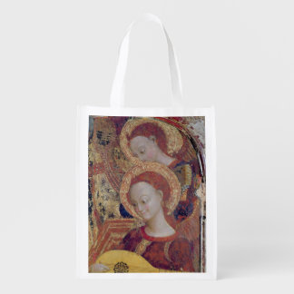 Angel musicians from painting of Virgin and Child Market Tote